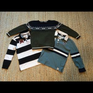 Hatley rugby shirts and Skyr sweater lot